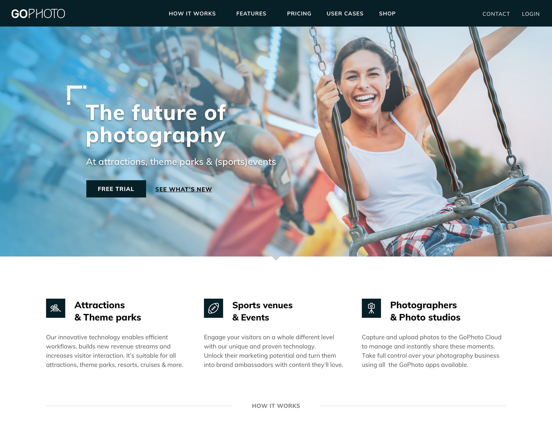 GoPhoto homepage